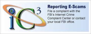 Reporting E-Scams