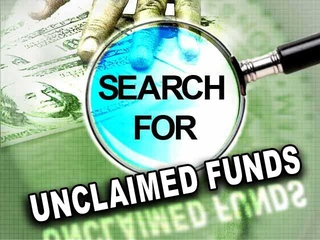 Search for unclaimed funds